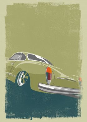 VW Karmann Ghia print available for purchase