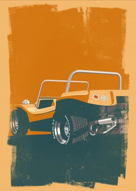 VW Dune Buggy print available for purchase