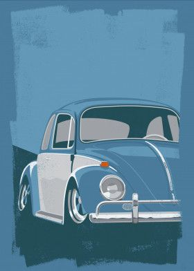 VW Beetle print available for purchase